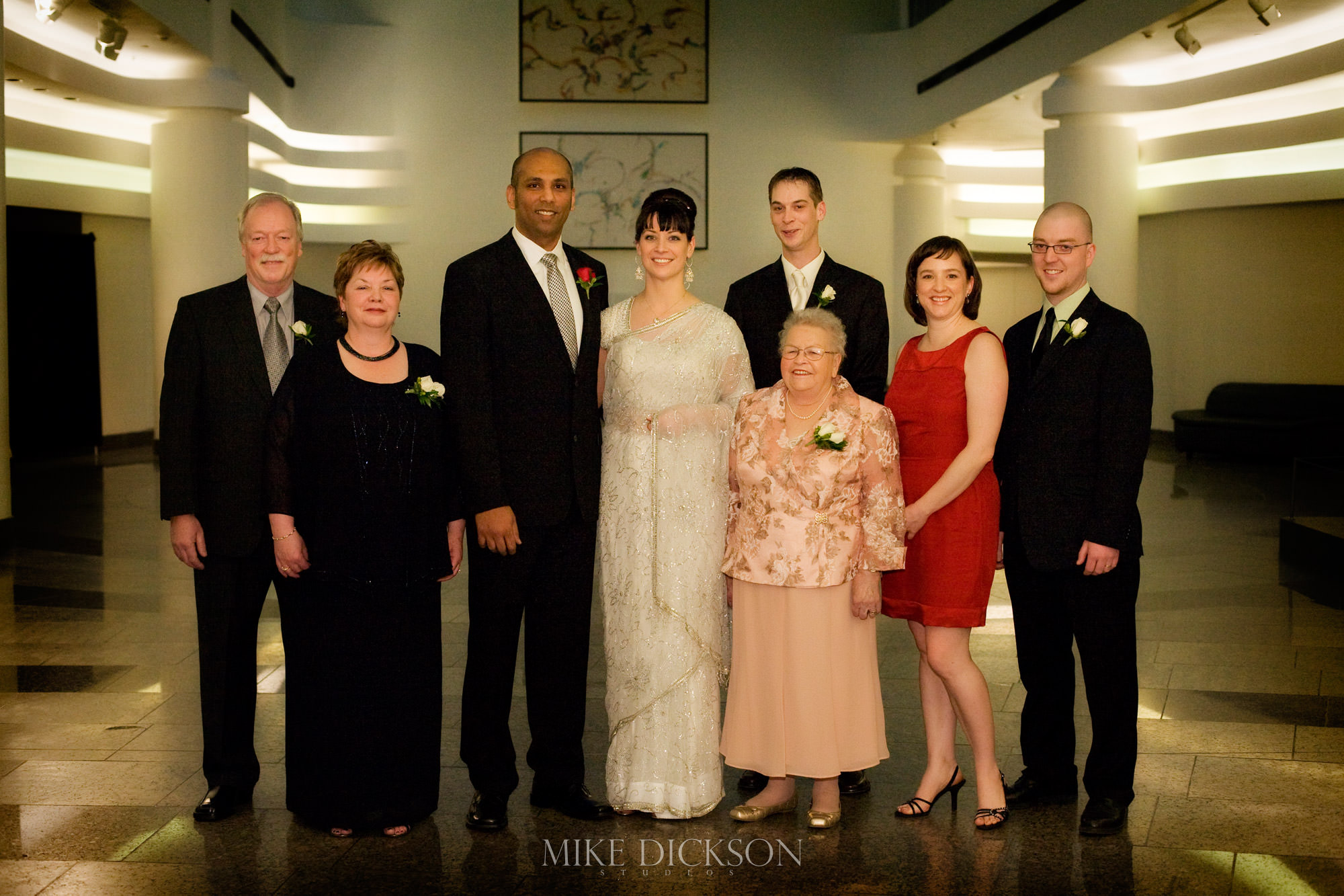 Family, Gatineau, Museum of History, Quebec, Wedding, Winter, © Mike Dickson
