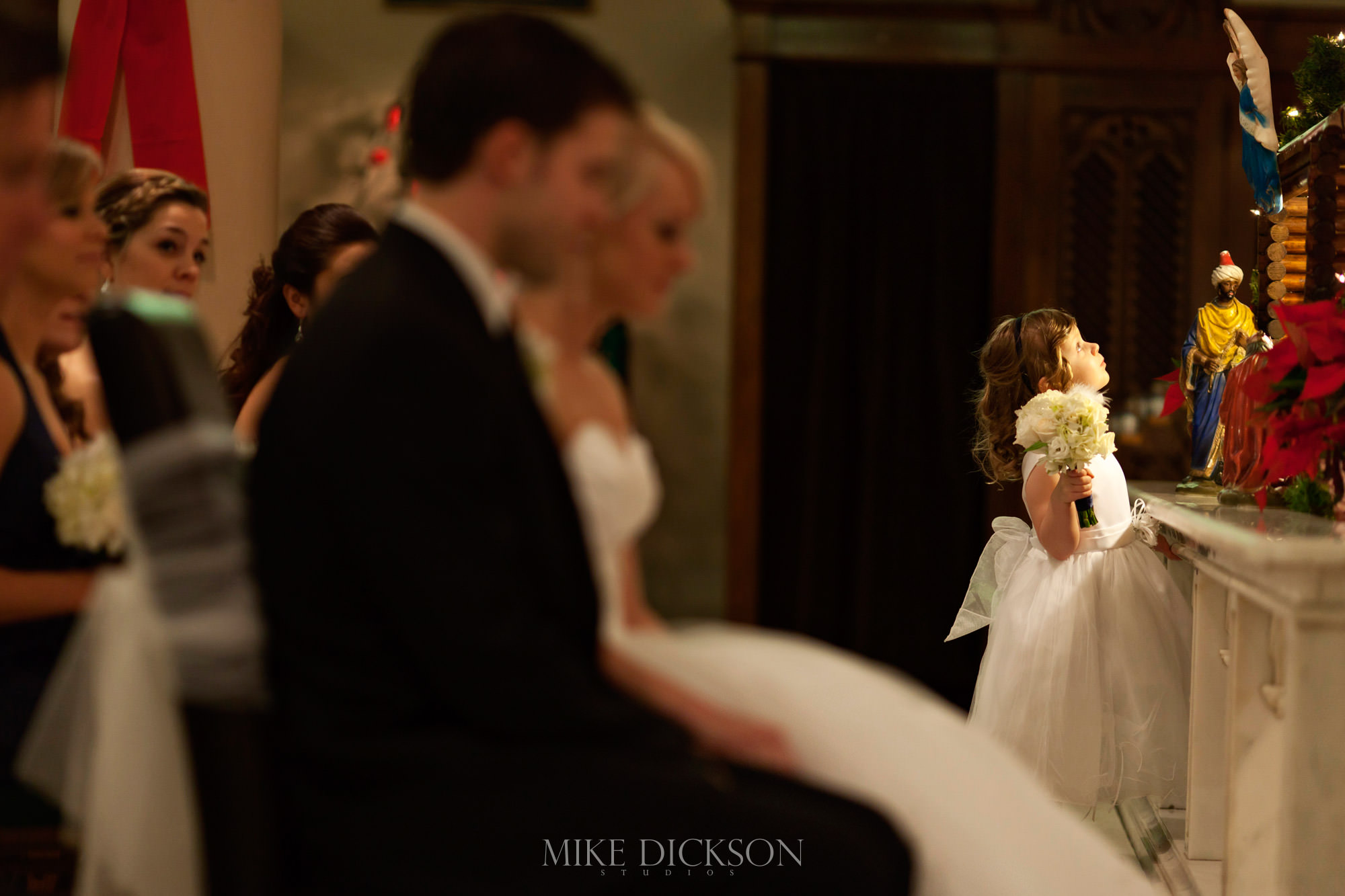 Ceremony, Ontario, Ottawa, St Theresa's Church, Wedding, Winter, © Mike Dickson